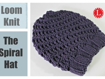 Loom Knit Hat : Super Easy Spiral