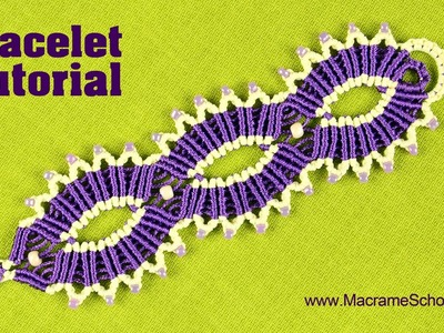 Macramé | Triple Sun Bracelet | Tutorial by Macrame School