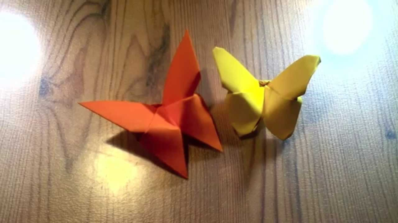 Making an Origami Butterfly, Instructional Video, How-To