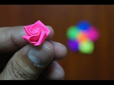 Mini Origami - How to make Mini Rose Origami (Version 4.1)