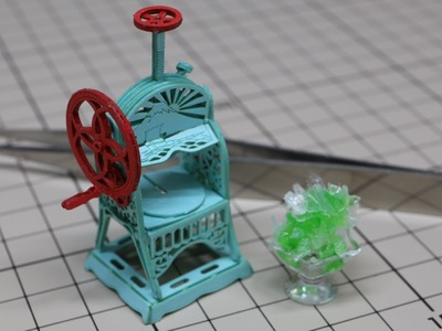 Miniature Ice Shaver Paper Craft
