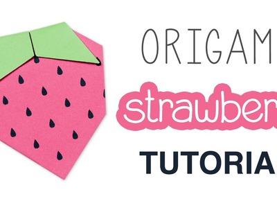 Origami Strawberry Tutorial + Free Printable