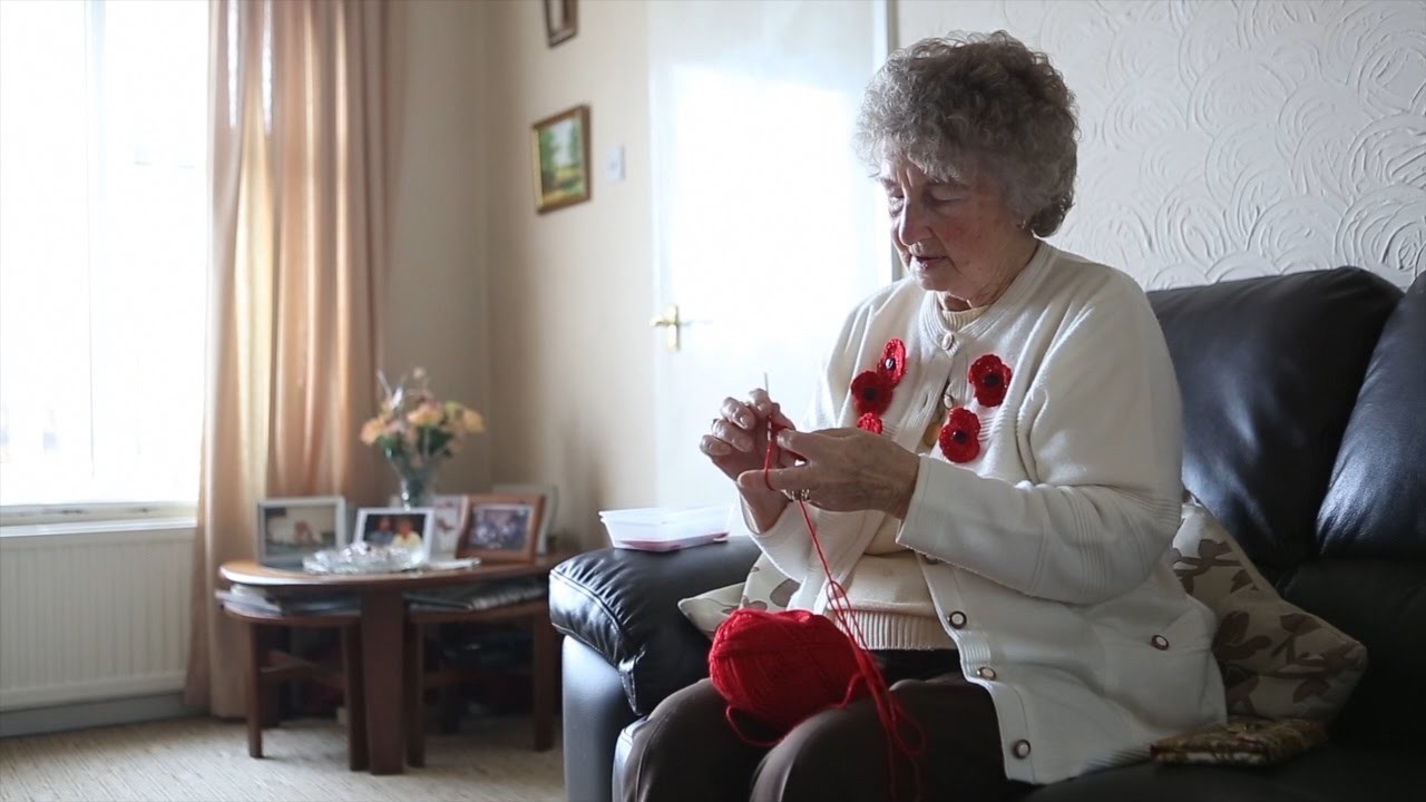 Poppy-making pensioner claims creating 20 crochet poppies a day helps battle arthritis