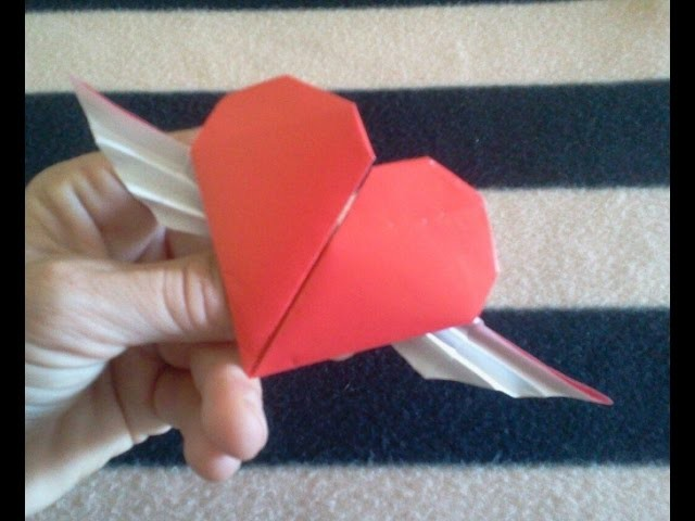 San Valentine's origami heart - Corazon de papel para San Valentin