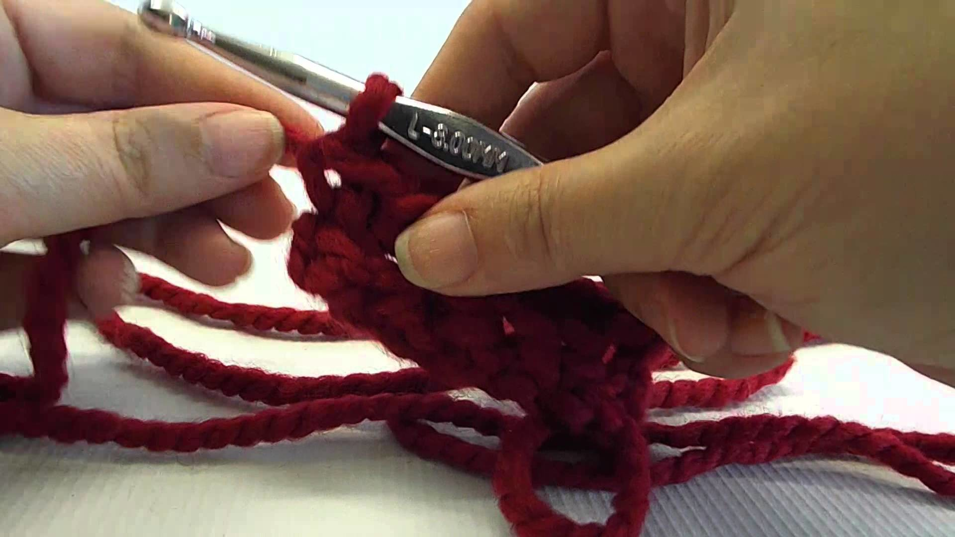 Single crochet in the back loop