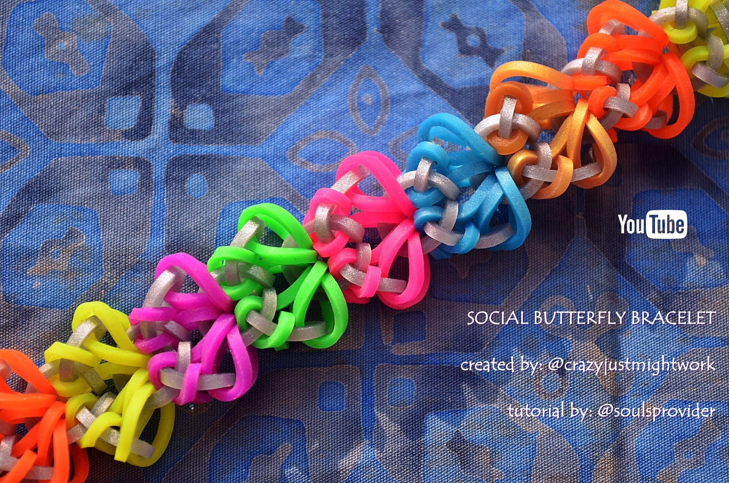 SOCIAL BUTTERFLY BRACELET HOOK ONLY DESIGN TUTORIAL
