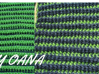 Tunisian crochet reversible stitch