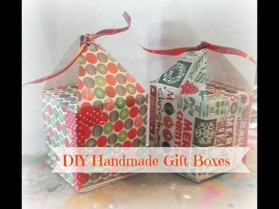 Updated: How to make a gift box. DIY Handmade Paper Gift Boxes ( using only one sheet of paper