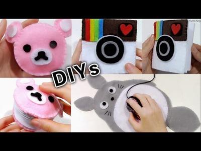 3 School DIYs: DIY Rilakkuma Notebook+DIY Totoro Mouse Pad+DIY Instagram Notebook+Review