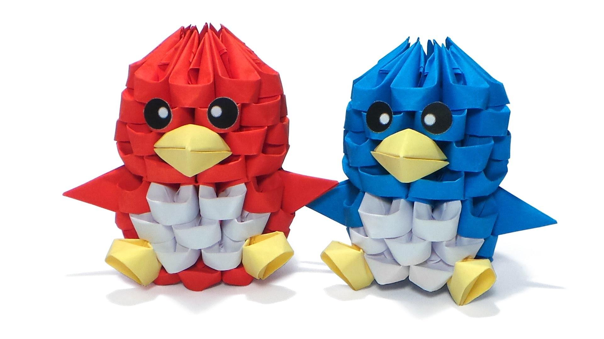 3D Origami Tiny Bird Tutorial