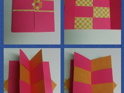 Art & Craft: How to make secret door greeting card.  Magic card