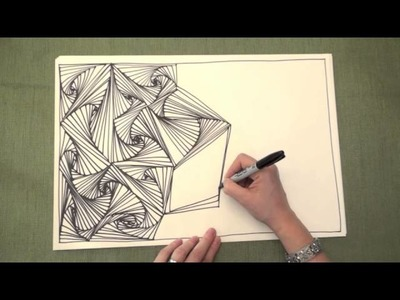 ASMR: Line Illusions (ASMR, no speaking, Doodling pattern, Pursuit curve, Zen tangle)