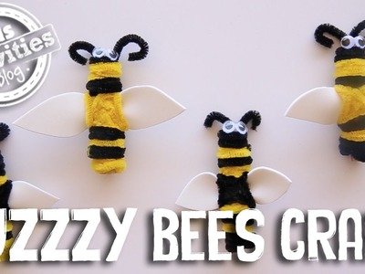 Buzzzy Bees Craft with Clothespegs and Pipe Cleaners!