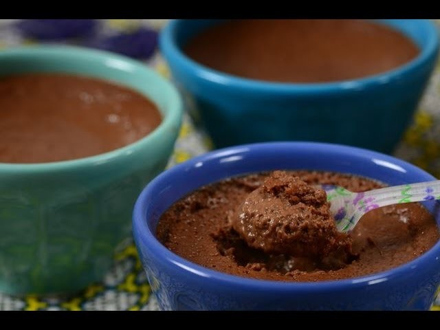 Chocolate Pots de Crème Recipe Demonstration - Joyofbaking.com