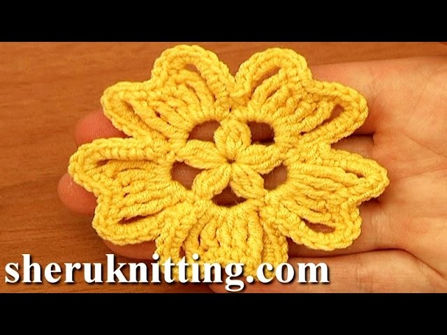 Crochet 5-Petal Flower Tutorial 94