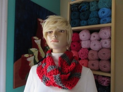 Crochet teenager scarf. With Ruby Stedman