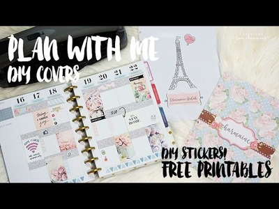 DIY Happy Planner Covers | Plan With Me Sunday! Wk47 | Free Printables | Charmaine Dulak