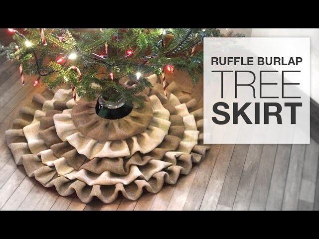 DIY No Sew Burlap Tree Skirt Tutorial