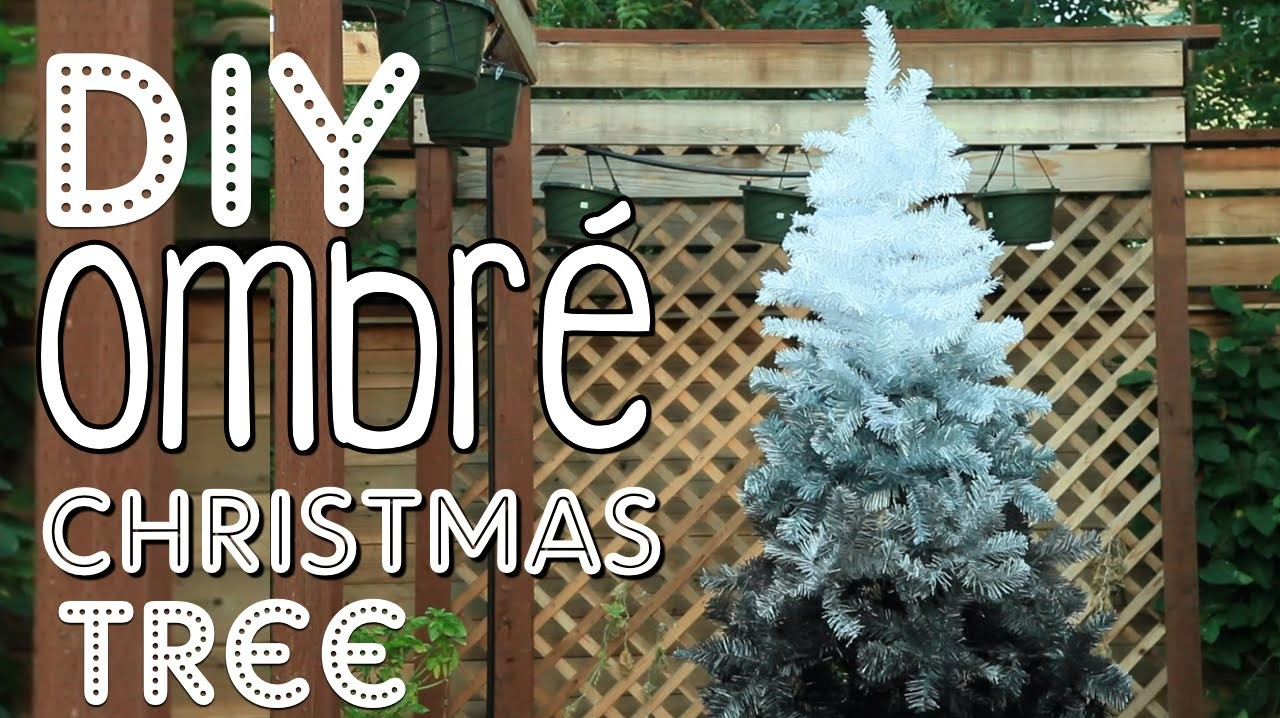 DIY Ombré Christmas Tree | Christmas Room Decor DIY!