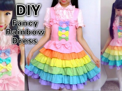 DIY Rainbow Dress: Sewing a Fancy Lolita Dress With me from Scratch