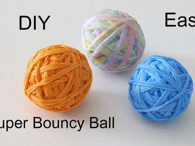 DIY: Super Bouncy Ball.Rainbow Loom Bouncing Ball 3D Jump Up to 12+ Feet