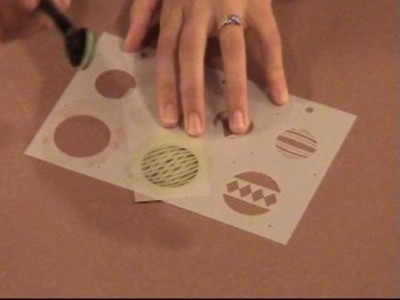 Holiday Ornament Stencil Tutorial