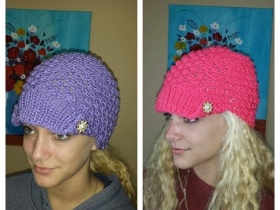 How To Knit Easy Hat With Popcorn Stich
