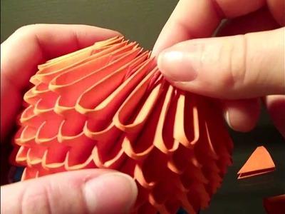 How to make 3d origami pokeball