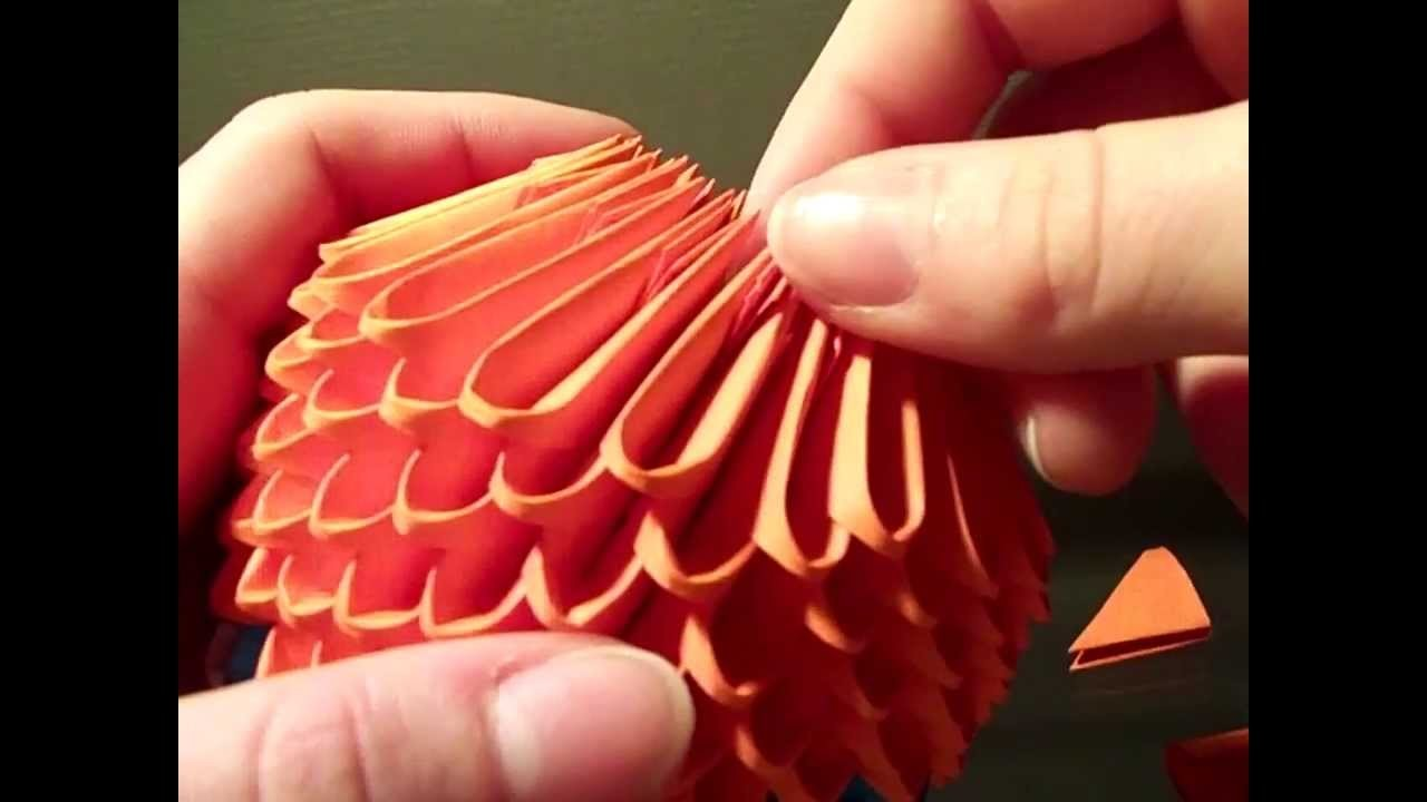 How to make 3d origami pokeball