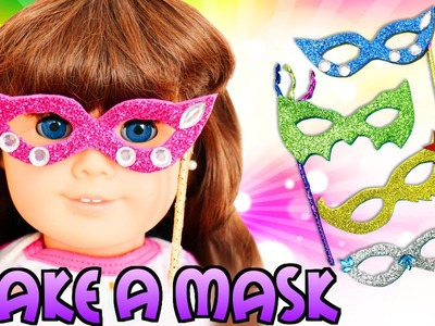 How to Make AMERICAN GIRL DOLL Mask - Easy Doll Crafts
