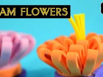 How To Make Foam Flowers - Fun Craft Ideas For Kids