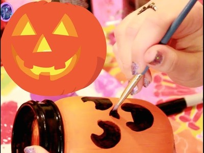 How to Make MASON JAR JACK-O-LANTERNS (Parrot's Fall Pinterest Palooza) - @dramaticparrot