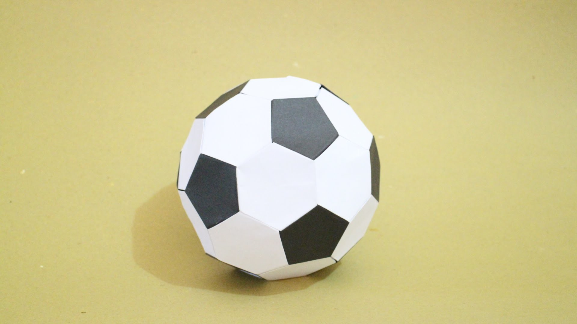 How to Make Origami Soccer Ball Size 2 (Black-White)