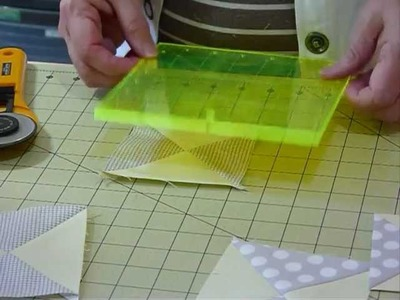 "How to make Quarter Square Triangle Blocks using 5"" squares - Quilting Tips & Techniques 061"