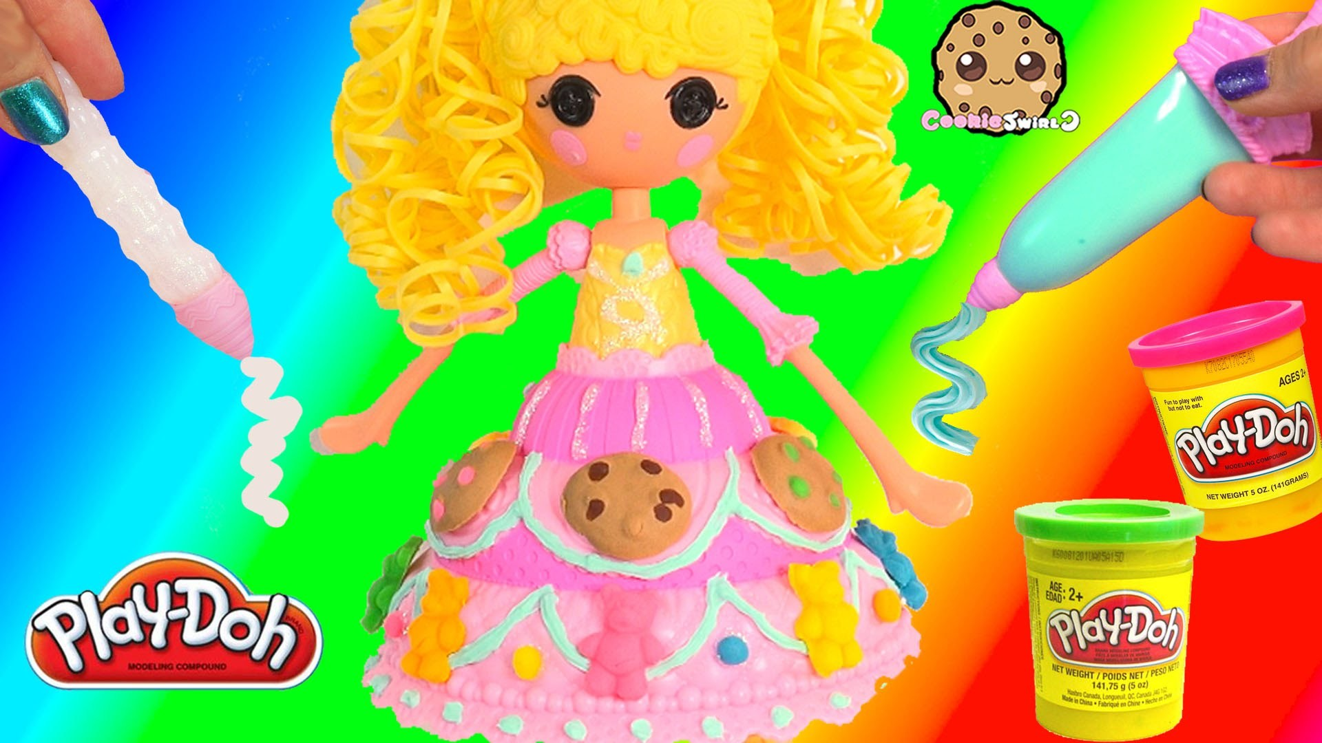 Lalaloopsy Girls Playdoh Candy Cookie Dress Fashion Frosting Decorating Craft Doll Cookieswirlc