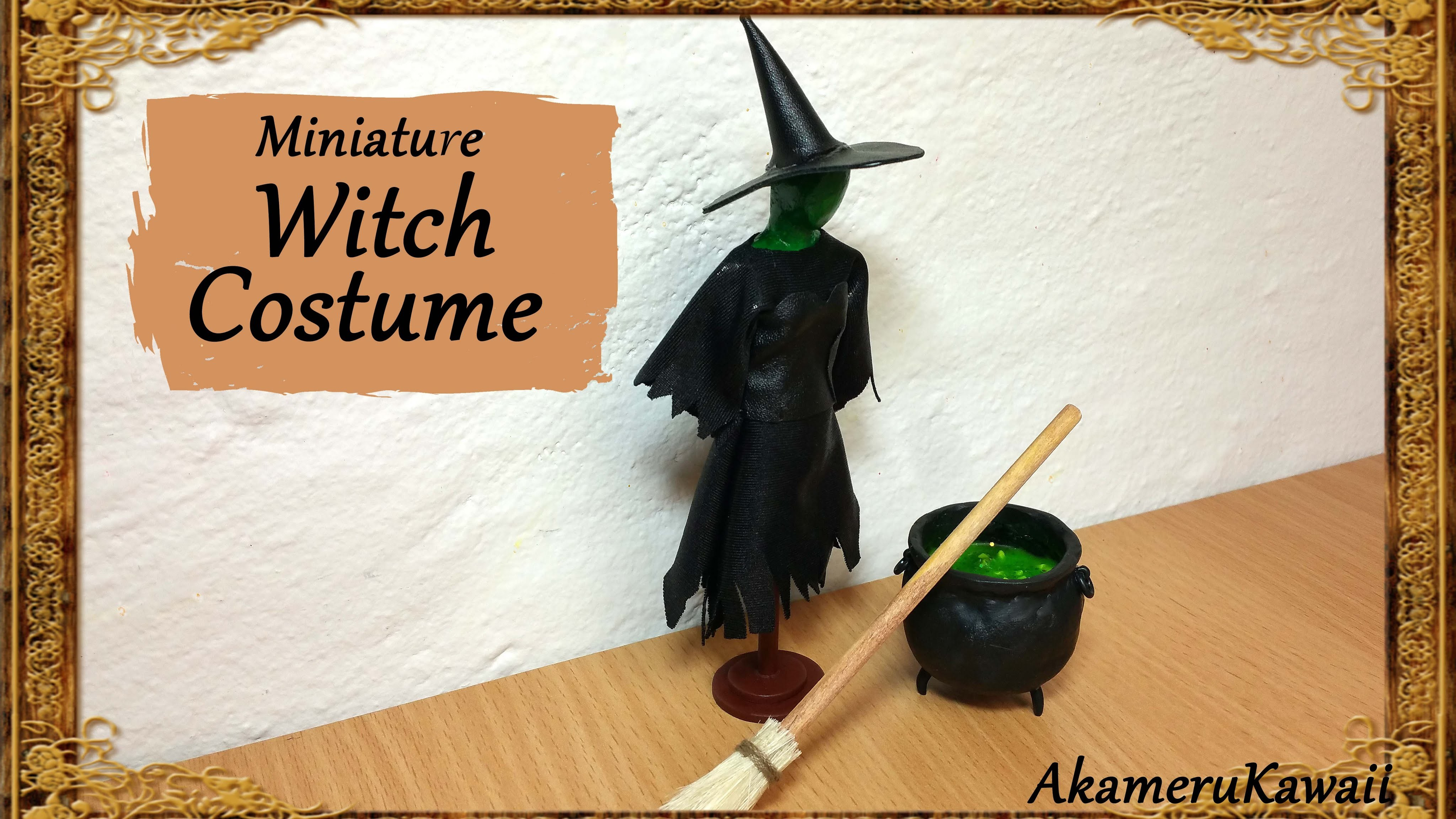 Miniature Witch Doll Costume - Halloween Fabric Tutorial