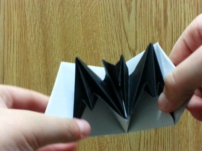 Origami Bat Pop-up Card, Designed By Jeremy Shafer - Not A Tutorial