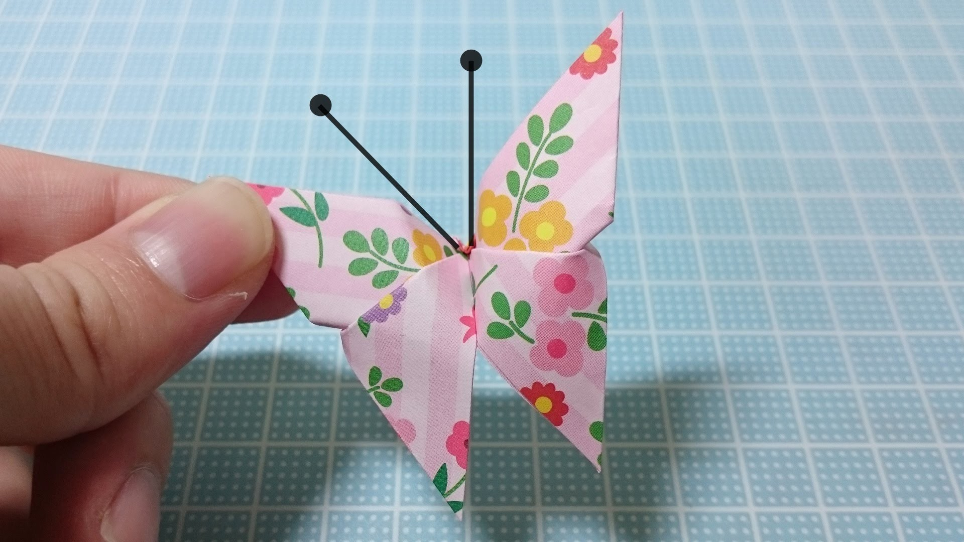 Origami Butterfly Easy Tutorial! Flower Pattern