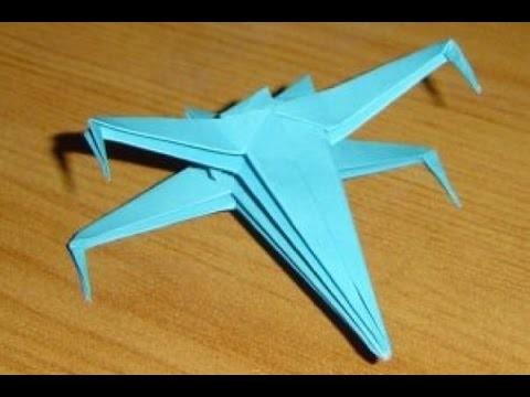 Как из бумаги сделать x wing