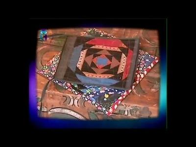 "Patchwork. Sew block ""pineapple"". Create textile jewelry. Diy. Handmade"