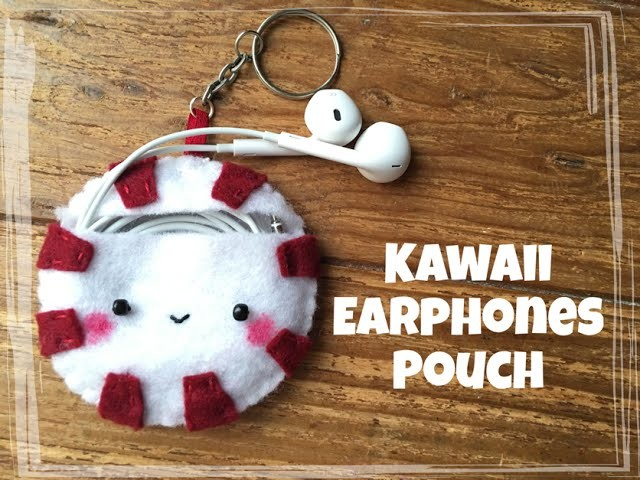 Peppermint Earphones Pouch | Felt Tutorial