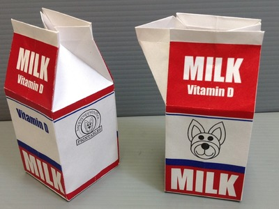 Print Your Own Origami Milk Carton