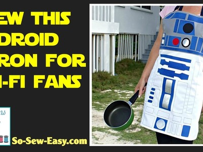 Sew this R2D2-style Star Wars inspired apron