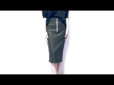 Sewing + DIY Zip Front midi Pencil Skirt