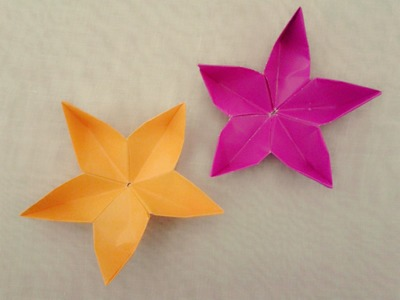 Simple origami flower Cherry Blossom  - How to make origami flowers very COOL!