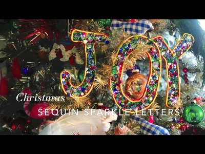Sparkle Sequin Letter Ornaments from Aunt Peaches