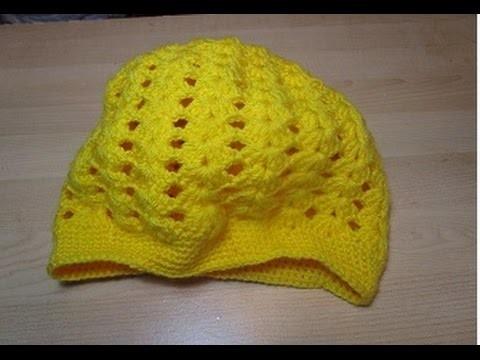 Uncinetto Crochet Cappello Giallo  Facile Tutorial