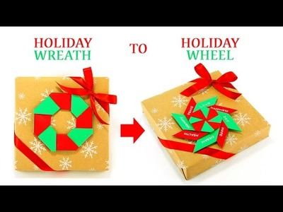 X'mas Wreath & Wheel Gift Wrapping
