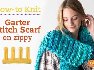Zippy Loom - Garter Stitch Scarf, complete pattern