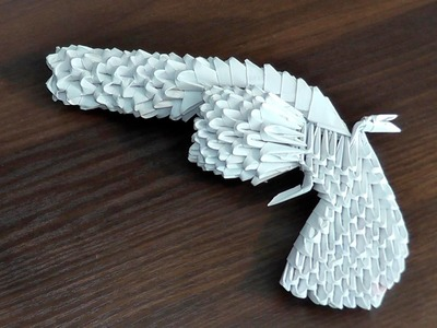 3D origami gun Colt tutorial (instruction)